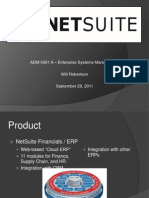 NetSuite - ERP Vendor Profile