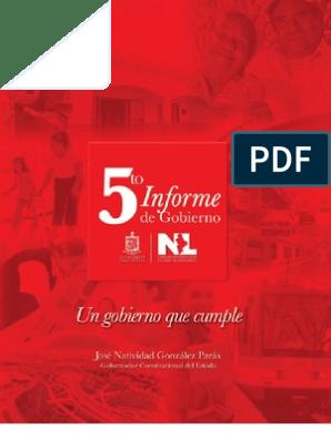 5to Informe De Gobierno Documento Narrativo