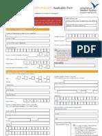 Application Form UG Prospectus 2011