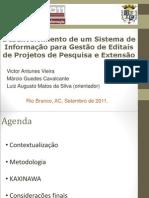 Desenvolvimento de um Sistema de Informação para Gestão de Editais de Projetos de Pesquisa e Extensão (apresentação em slides)