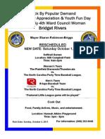 Flyer Community Appreciation Day Rescheduled