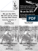 Join Occupy Wall Street (Saturday) Oct 1, 2011 at 3pm in Zuccotti Park