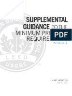 LEED 2009 MPR Supplemental Guidance