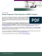 House Bill Proposes 5-Year Extension of NMTC Program