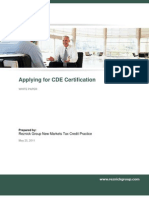 Applying for CDE Certification