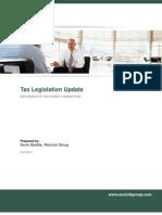 Tax Legislation Update