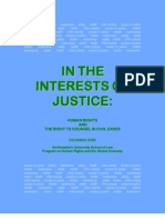 In the Interests of Justice Human Rights n the Right to Counsel in Civil Cases Phrge-righttocounsel