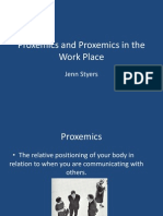 Proxemics and Proxemics in the Work Place