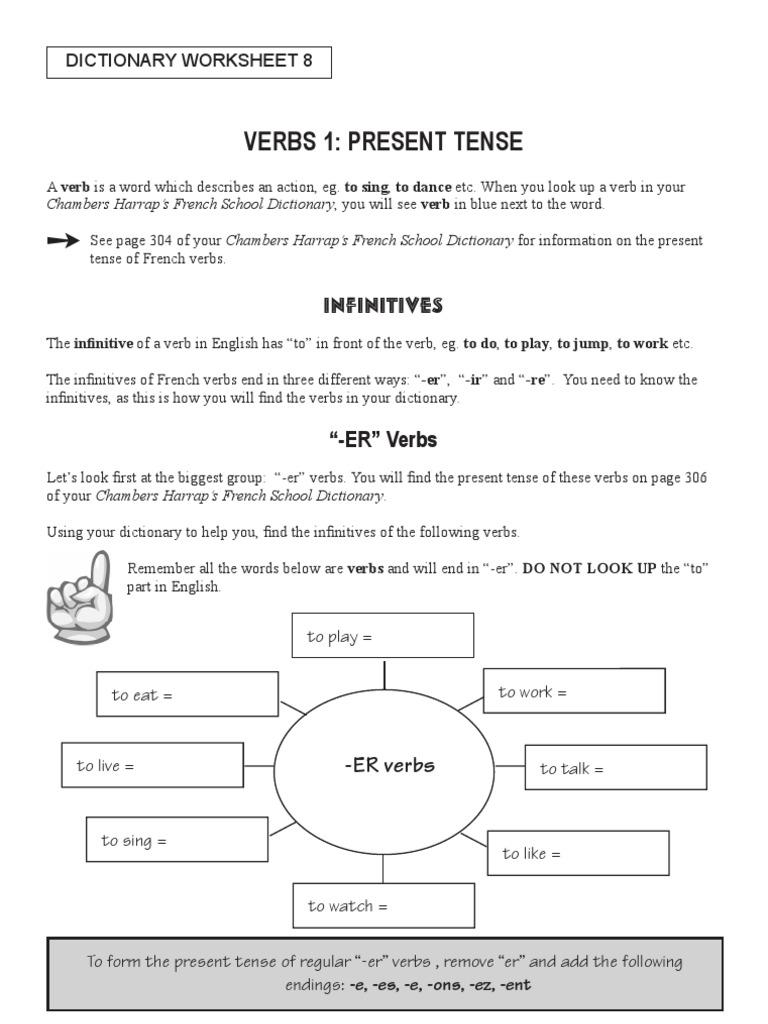 Verbs 1 present tense verb syntax robcynllc Images