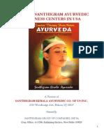 Brief of Santhigram Ayurvedic Centers in US