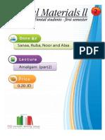 Lecture 2, Dental Amalgam II (Script)