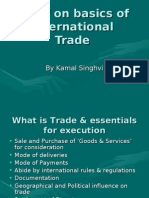 Brief on Basics of International Trade