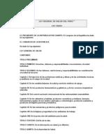 Ley General de Salud Del Perú