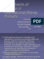 Instruments of Finance in International Money Markets