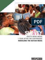 HAITI'S NEWS MEDIA 11 MONTHS AFTER TH E EARTHQUAKE - REBUILDING TH E HAITIAN MEDIA