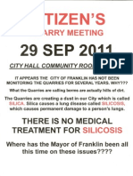Quarry Meeting Flyer