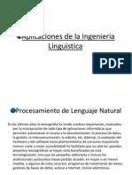 Aplicaciones de La Ingenieria Linguistic A