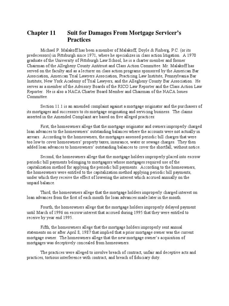 Plaintiff's First Set of Interrogatories PL01_C11   Mortgage