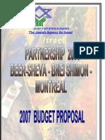 2007 Budget Proposal January 2007 English