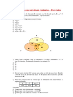 3 - Exercícios - Problemas com conjuntos