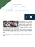 Intenciones de oración del Papa Benedicto XVI para el 2012 (Comentadas)