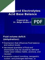 Fluid & Electrolytes and Acid Base Balance