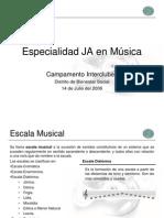 Especialidad de Musica