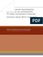 11-2010 School-Based Restorative Justice as an Alternative to Zero-Tolerance Policies