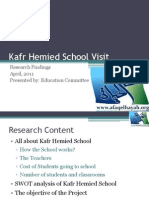 Kafr Hemied School Visit Research Findings