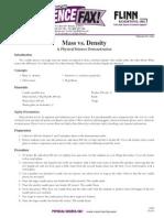 mass vs  density flin lab