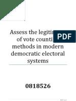 Dissertation Voting Systems
