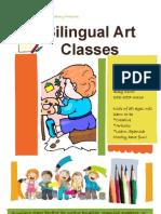 Bilingual Art Classes Flyer
