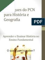 Destaques do PCN para História e Geografia