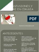 TRANSFUSIONES Y SANGRE EN CIRUGÍA