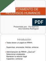 Presentación del departamento de recursos humanos