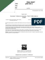 Eurocode 1 Part 2 - PrEN 1991-2-2002