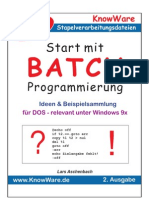 (eBook - Deutsch) Informatik - Knowware - Start Mit Batch-Programierung