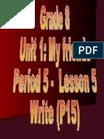 Grade8 Unit1 - Lesson5