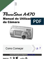 Manual Canon PowerShot A470 - Português