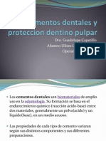 Cementos Dentales y Proteccion Dentino Pulpar