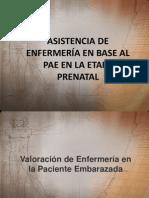 ASISTENCIA DE ENFERMERÍA EN BASE AL PAE EN LA ETAPA PRENATAL 1