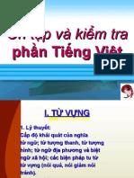 Ôn tập và Kiểm Tra Phần Tiếng Việt