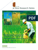 International Rice Research NOtes Vol.24 No.3