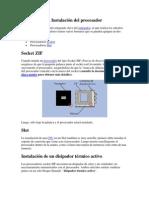 Instalacion de Procesador y RAM