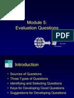Module5, Evaluation Questions