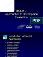 Module7, Approach to Development Evaluation
