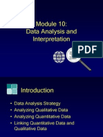Module10, Data Analysis and Interpretation