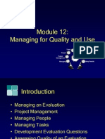 Module12, Managing for Quality and Use
