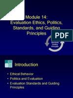 Module14, Evaluation Ethics, Politics, Standards, And Guiding Principles