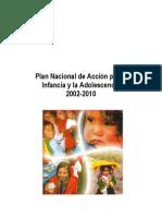 Plan Nac d Acción x la Infanc y la Adolesc2002-2010